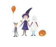 dzieci ubrane w Halloween Zdjęcie Stock