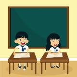 Dzieci uczy się w klasie ilustracji