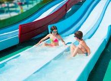 Dzieci w aqua parku Obrazy Royalty Free