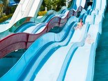 Dzieci w aqua parku Zdjęcia Royalty Free