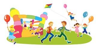 Dzieci w dziecinu Fotografia Royalty Free
