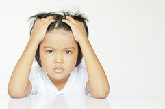 Dzieci w gniewnym Obraz Stock