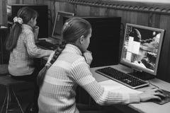 Dzieci w komputer klasie Zdjęcie Royalty Free
