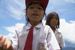 Dzieci w mundurek szkolny obraz stock