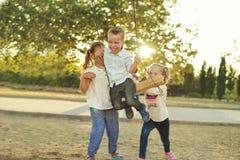 Dzieci w parku Obraz Stock