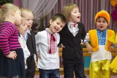 Dzieci w przedszkolu Obrazy Royalty Free