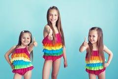 Dzieci w swimwear zdjęcie stock