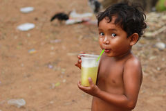 Dzieci w wiosce Zdjęcia Stock