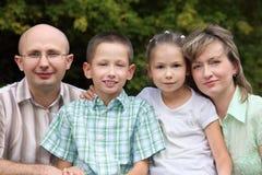 dzieci wcześnie spadek rodziny park dwa Obraz Royalty Free