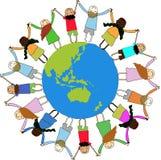 dzieci wokół światowych Fotografia Royalty Free