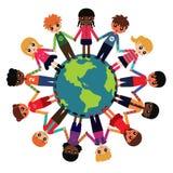 dzieci wokół światowych Obraz Stock