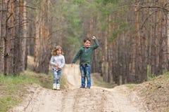 dzieci wpólnie target935_1_ Obrazy Royalty Free