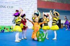 Dzieci współzawodniczą w SpringCup tana międzynarodowej rywalizaci Zdjęcia Stock