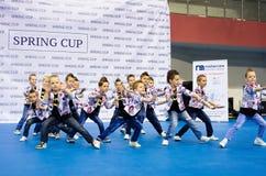 Dzieci współzawodniczą w SpringCup tana międzynarodowej rywalizaci Zdjęcie Stock