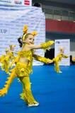 Dzieci współzawodniczą w SpringCup tana międzynarodowej rywalizaci Fotografia Stock
