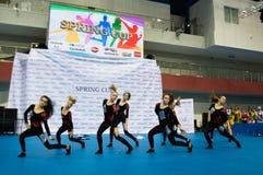 Dzieci współzawodniczą w SpringCup tana międzynarodowej rywalizaci Fotografia Royalty Free