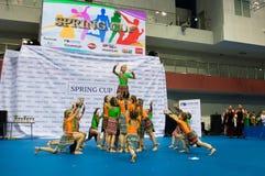 Dzieci współzawodniczą w SpringCup tana międzynarodowej rywalizaci Obraz Royalty Free