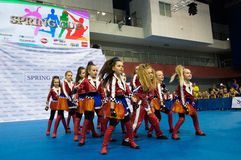 Dzieci współzawodniczą w SpringCup tana międzynarodowej rywalizaci Obrazy Royalty Free