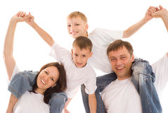 dzieci wychowywają ich zdjęcie royalty free