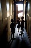 dzieci wysiedlający Zdjęcia Royalty Free