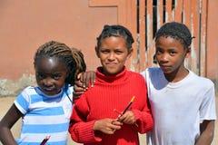 Dzieci żyje w Mondesa slamsy Zdjęcie Royalty Free