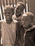 Dzieci żyje w Mondesa slamsy Fotografia Stock