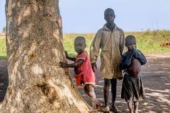 Dzieci żyje w wiosce blisko Mbale miasta w Uganda, Afryka Zdjęcia Royalty Free