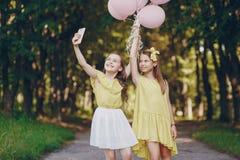 Dzieci z ballons obraz royalty free