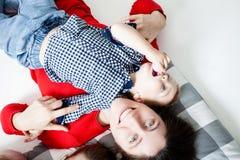 Dzieci z mamami Zdjęcie Royalty Free