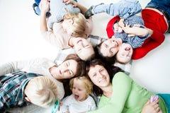 Dzieci z mamami Zdjęcie Stock