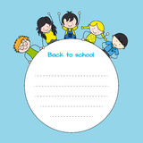Dzieci z powrotem szkoła Zdjęcie Stock