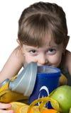 Dzieci z sporta odżywianiem obrazy royalty free