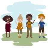 Dzieci z vitiligo skóry chorobą Royalty Ilustracja