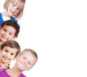 dzieci zbliżenia grupa odizolowywająca przestrzeń ty zdjęcia royalty free