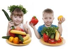 Dzieci zdrowy jedzenie. Fotografia Royalty Free