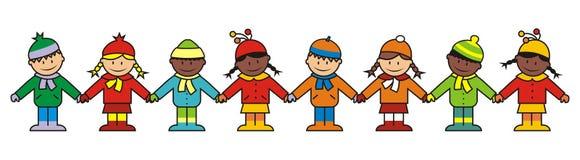 Dzieci, zima odziewają Zdjęcia Royalty Free