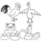 Dzieci zwierzęta - kolorystyka Zdjęcie Royalty Free