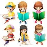 Dzieciaków czytać ilustracja wektor