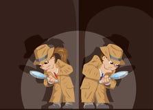 Dzieciaków detektywi ilustracja wektor