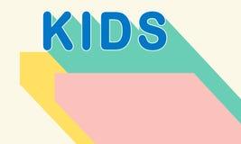 Dzieciaków dzieci dzieciństwa młodości pojęcie ilustracji