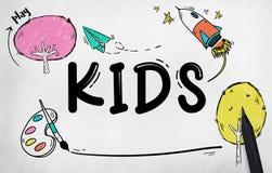 Dzieciaków dzieci dzieciństwa wyobraźni pojęcie ilustracji