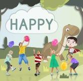 Dzieciaków dzieci dzieciństwa wyobraźni Szczęśliwy pojęcie ilustracji