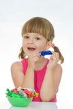 dzieciaków miłości cukierki Obrazy Royalty Free