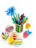 Dzieciaków rzemiosła z barwionego papieru Zdjęcie Stock