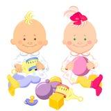 dzieciaków sztuka zabawek wektor royalty ilustracja