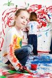 dzieciaków target597_1_ Fotografia Stock