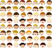 Dzieciaków Twarzy Set Zdjęcia Stock