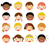 Dzieciaków Twarzy Set Zdjęcie Stock