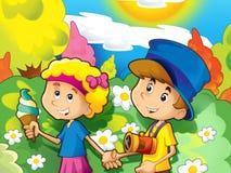 Dzieciaków zwiedzać ilustracja wektor