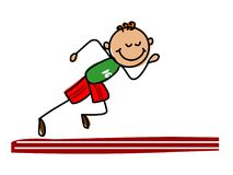 Dzieciak atleta Kreskówka dzieciaka wektoru ilustracja Zdjęcie Royalty Free